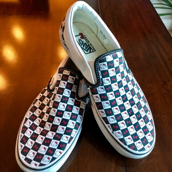 0d8361b374a Hello Kitty Checkered Vans Slips Limited Edition!  M 5b74be3310fc54c9ab4f2419. Other Shoes ...